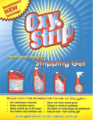 Excellent for Wood Refinish Projects / Home and Construction Paint & Varnish Removal Applications/ Indoor and Outdoor Paint Stripping Uses / Stays Wet & Active up to 24 Hours / Easy to Use Fast Acting Gel, Clings to Vertical Surfaces / Contains No-Hazardous Methylene Chloride or Flammable Solvents, Pleasant Scent.